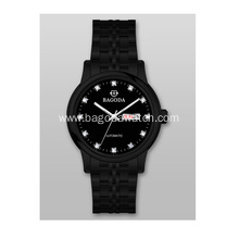 Black metal stainless steel watches