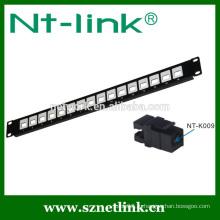 16-портовая коммутационная панель cat5e cat6 rj45 utp
