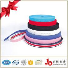 Fita elástica tecida colorida personalizada do furo de tecla para a roupa