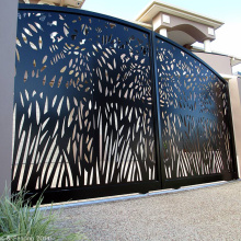Corten Steel Laser Cut Gate and Fence