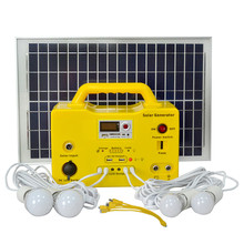 20W Solar Home Llighting System with LED Lamp