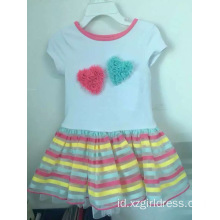 Lovely Bubble Fashion Girl Causal Dress untuk Anak-Anak