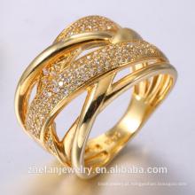 Anéis de noivado para mulheres anel de princesa rosa de ouro