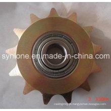 Roda de roda dentada com rolamento, zinco colorido chapeado
