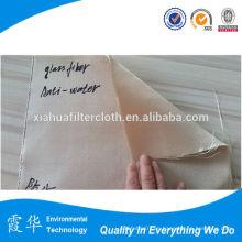 Paño de filtro tejido de fibra de vidrio tejido con silicio para plantas metálicas