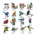 Wallpaper Motif Burung Bordir Lucu Motif