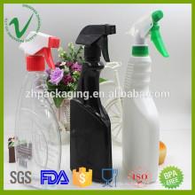 500 мл ПЭВП для очистки оптовой пустой жидкой моющей пластиковой бутылки с триггерным распылителем