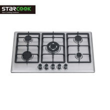 Stainless Steel 5 Burner Gas Hob  for home use portable gas stove