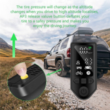 Portable Compressor Tire Inflator Car Air Pump