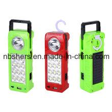 Lámpara de emergencia solar recargable LED
