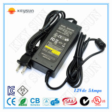 12V, 5A DC Unit Charger e 12V 5A Power Supply Charger Class2 UL1310