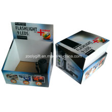 Customized Printing PDQ Corrugated Display Packing Box for Flashlight