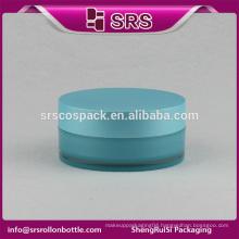 SRS free sample cosmetics bule plastic 4oz double wall cosmetic jars