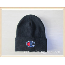 chapéu de malha bordado masculino