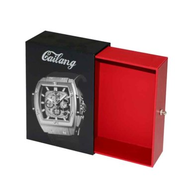 Perhiasan Sliding Drawer Watch Paper Box