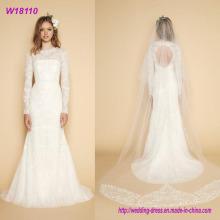 Frauen-weißes Hochzeits-Brautkleid-Kleid wulstiges Soem