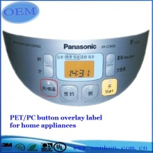 Reiskocher Button Overlay Label
