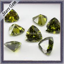 Brilhante Trillion Forma Peridot Gems Pedra para Jóias