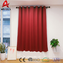 100% Polyester wärmeisolierte Haus und Hotel Verdunkelungsfenster Vorhang