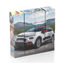 Custom design promotional advertising gifts magnetic paper cube puzzle