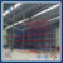 Warehouse drive through pallet rack