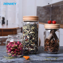 Cheap 750 ml stackable clear glass food container jar for chilli powder