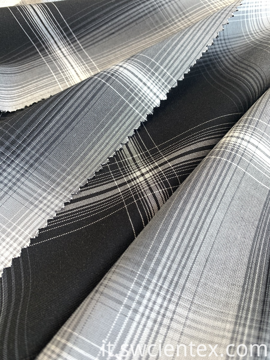 Rayon Checked Fabric