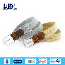 2015 Solid Color Unisex Braided Elastic Belts