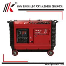 Портативное 4kw 5 кВА тихий дизельный генератор цена в Индии для продажи