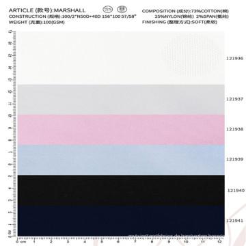 Baumwolle Nylon Spandex Mischung Stoff Shirt Stoff für Herrenbekleidung