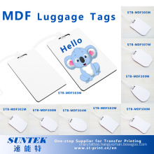 Blank MDF Luggage Tags for Sublimation