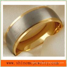 18k Gold Matting High Quality Titanium Ring Jewelry (TR1828)