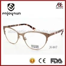 Mejor marca dama promoción promocional personalizada metal óptico gafas