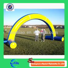Inflables puerta azul y amarilla, puerta de publicidad inflable, arco inflable