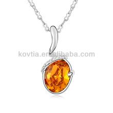 Elegante jóias de platina grande colar de diamantes de cristal dom 2015
