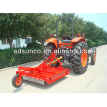 Rotary grass mower for four wheel tractor