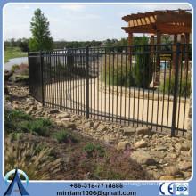 Fácilmente montado valla de hierro forjado patio