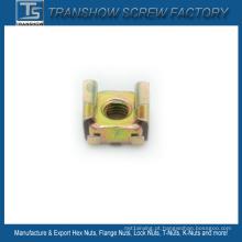 Porca de gaiola galvanizada de aço amarelo M6 65mn