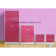 Ottawa 4 Piece High Gloss Bedroom Wardrobe Furniture Set