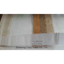 New Popular Project Stripe Organza Voile Sheer Curtain Fabric 0082129