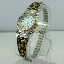 Moda Vintage Quartz Metal Bracelet Relógios para Senhoras Mulheres Vestido