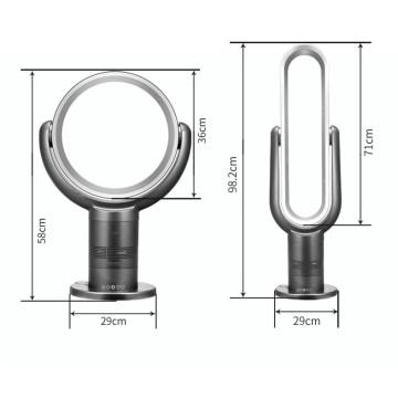 Inteligente controle remoto infravermelho 10 polegada Mini Air cool vento elétrico desktop bladeless ventilador