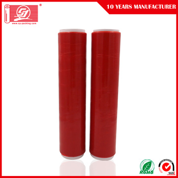 Röd färg LLDPE Handy Wrap Stretch Film