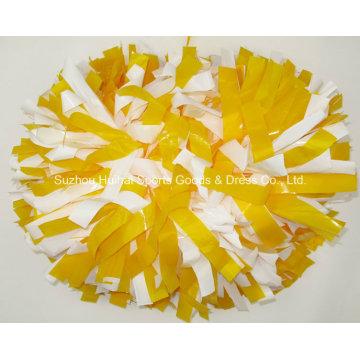 Wet Look POM POM: Yellow Mix White