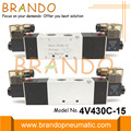 Electrovanne pneumatique 1/2 '' 4V430C-15 5/3 voies 24VDC