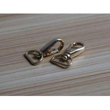 personalized handbag snap hook Gold metal swivel snap hook