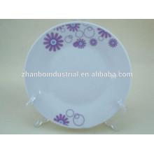 "Placas de sopa de porcelana branca de fundo plano de 10,5 """
