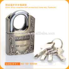 Excellent Quality Zinc Alloy Shackle Half Protected Vane Key Padlock