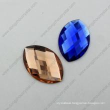 Colorful Flat Back Decorative Horse Eyes Glass Stone