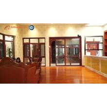 Porta de balanço de madeira interior da porta de vidro da porta de madeira de vidro da mancha
